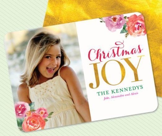 Christmas Cards with Gold Foil