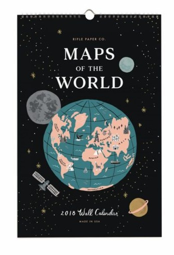 Rifle Paper Co Maps of the World Calendar
