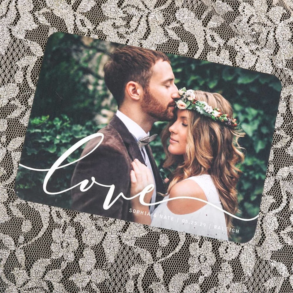 Romantic Save the Date available through Poeme