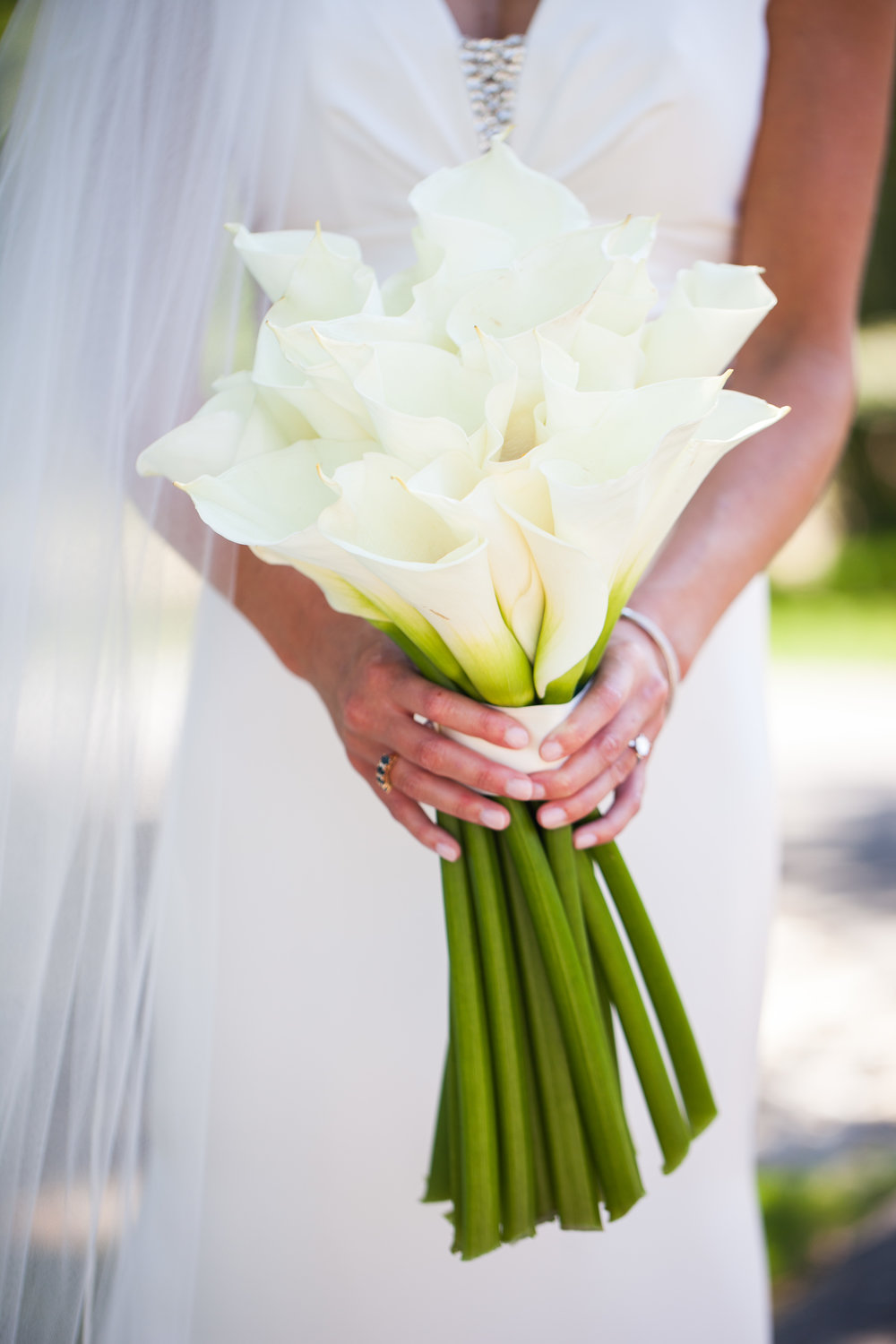 Bridal bouquet with white lilies