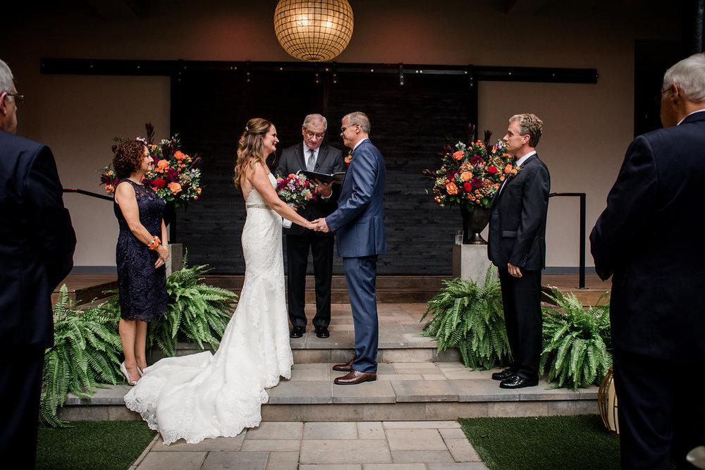 Outdoor Hotel Covington Wedding celebration. Photo Burning Chair Photography