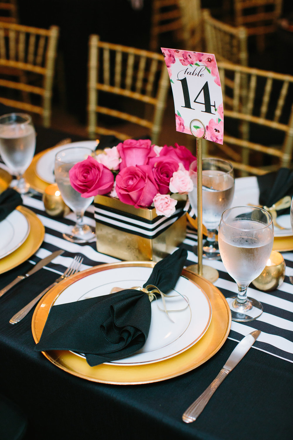 Bright and bold southern wedding with pink florals