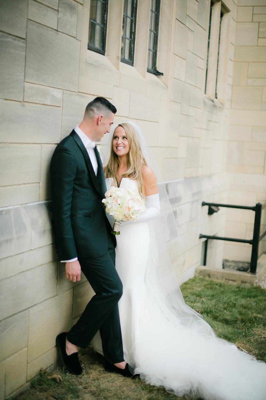 Cincinnati couple on wedding day