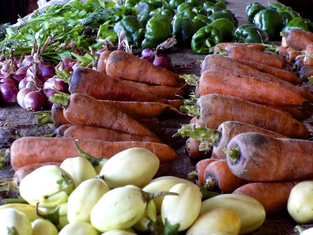 Fresh produce in Rwanda