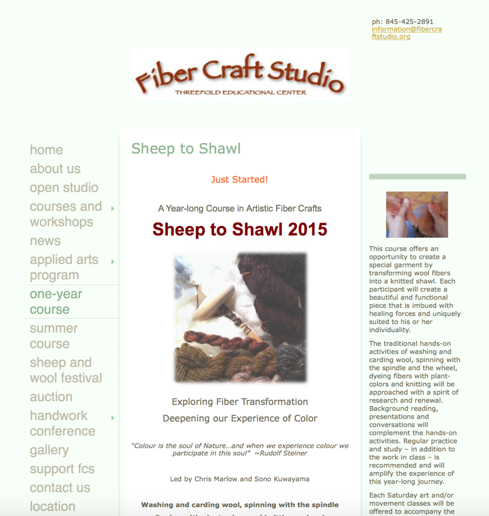Old FCS Sheep To Shawl Program Page