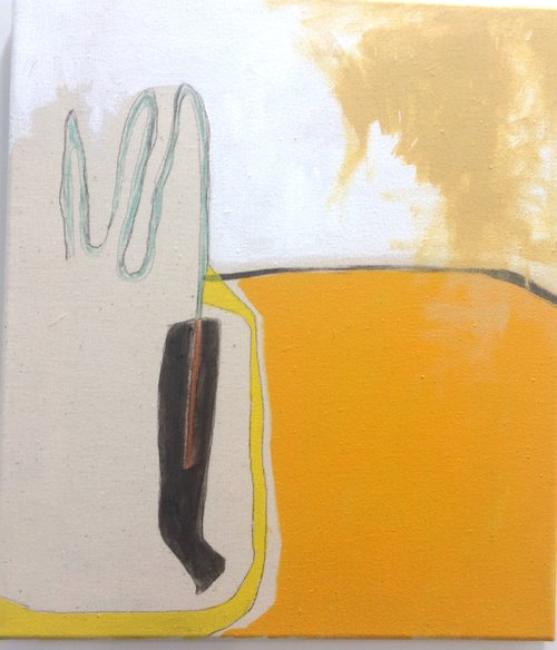 Megan Porpeglia  Cottage Pie , 2017 Acrylic, marker, and graphite on canvas, 15 x 13 in.