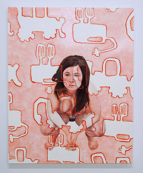Hannah Rose Berry  Whip and Dig, 2017 Oil and oil stick on canvas 40 x 36 in.