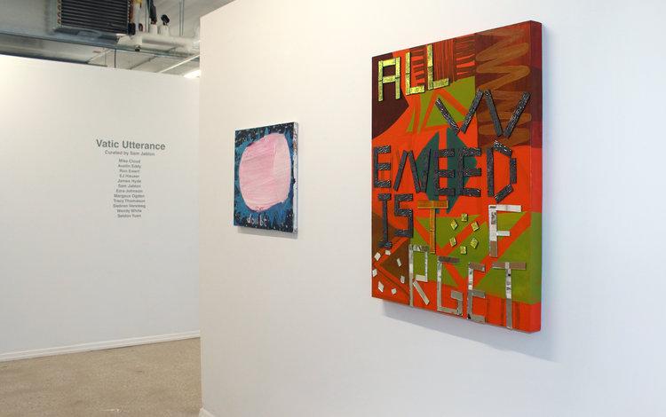 Left to right: Ezra Johnson,  Little Doubt , 2010; Sam Jablon,  Forget , 2014