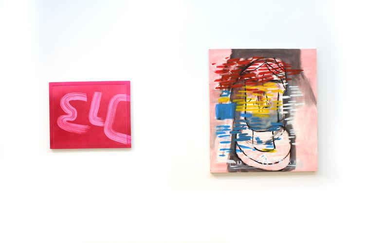Wendy White, ELC, 2015; EJ Hauser,  broken nose , 2012-13