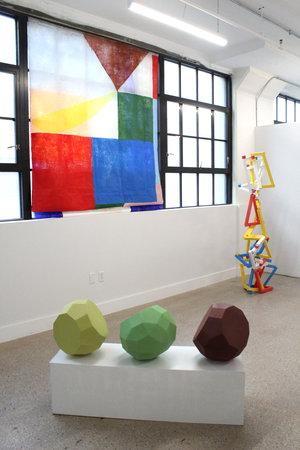 Clockwise: Anna Kunz,  Heart of Glass , 2017; Vivien Collens,  Froebel's gifts: installation of balanced units , 2017; Sarah Bednarek,  Dodecahedron Group , 2014