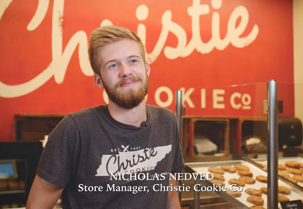 Christie Cookies - The quality of Authentically American's apparel is great. They provide merchandise for our stores as well as providing merchandise for our workers. Customers love the shirts, the quality's great! We support the fact that they're made in America.Nicholas Nedved - Christie Cookie Co. Store Manager