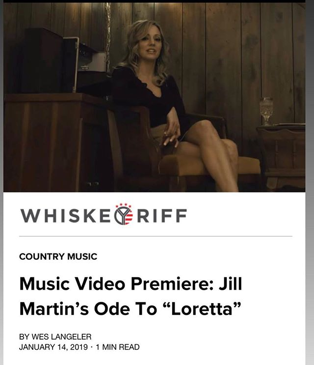 My buds at @whiskeyriff premiered my video for 'Loretta' today! The link to watch it is in my bio...go check it out! #countrymusic #jillmartin #whiskeyriff #loretta