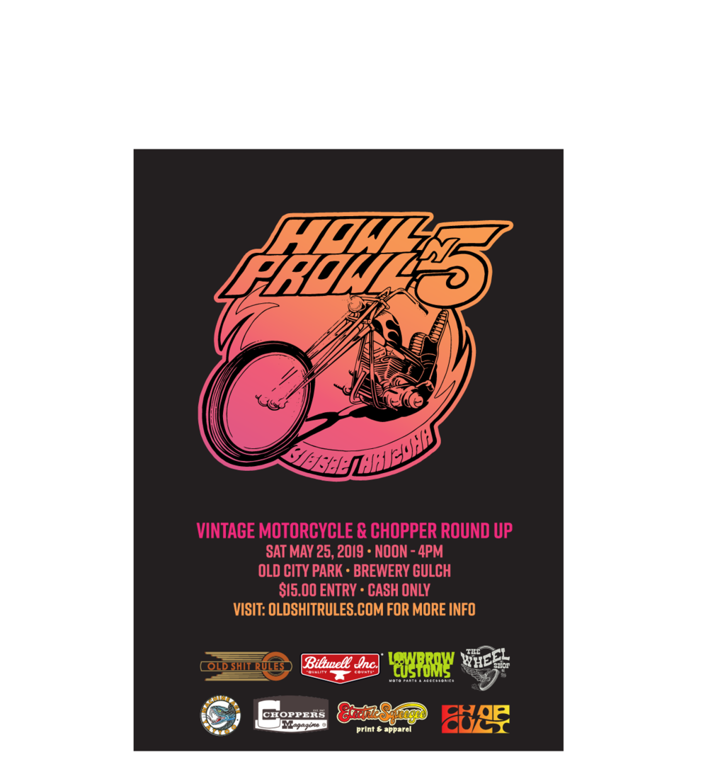 Big Thanks to this years sponsers; Old Shit Rules, Biltwell Inc.,  Lowbrow Customs , The Wheel Shop, Machine Age Tattoo, Choppers Magazine, Electric Squeegee, Chop Cult.