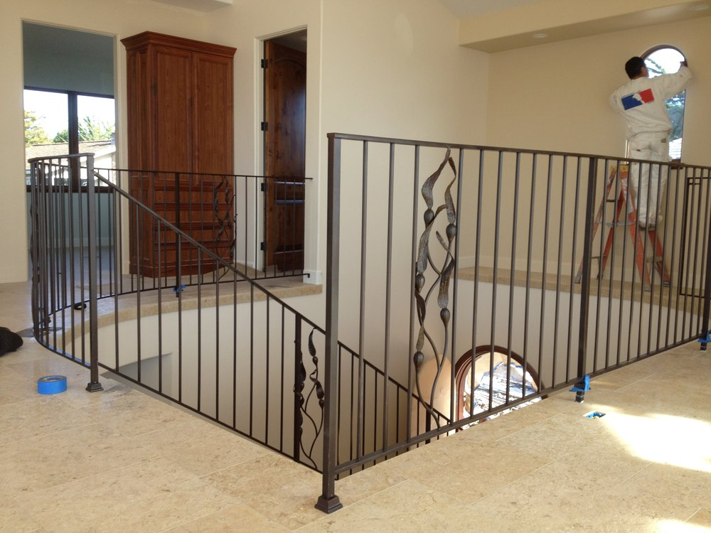 Steel Railing with Kelp