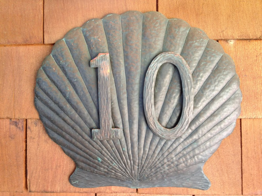 Sea Shell Number Plaque
