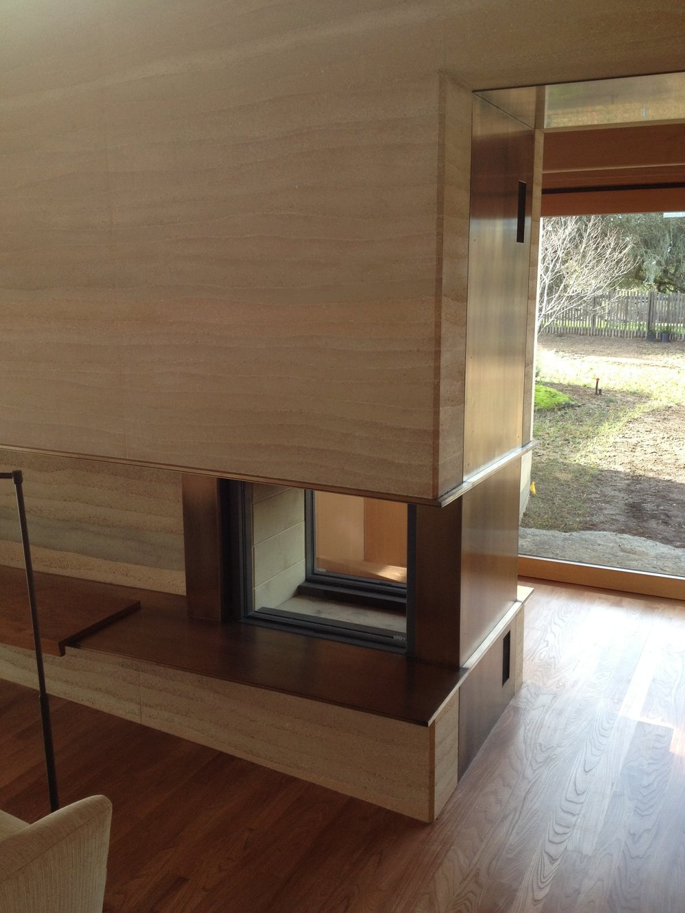 Bronze Fireplace and Hearth Cladding