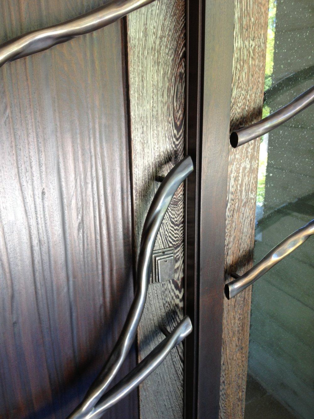 Bronze Tree Branch Front Door Handle
