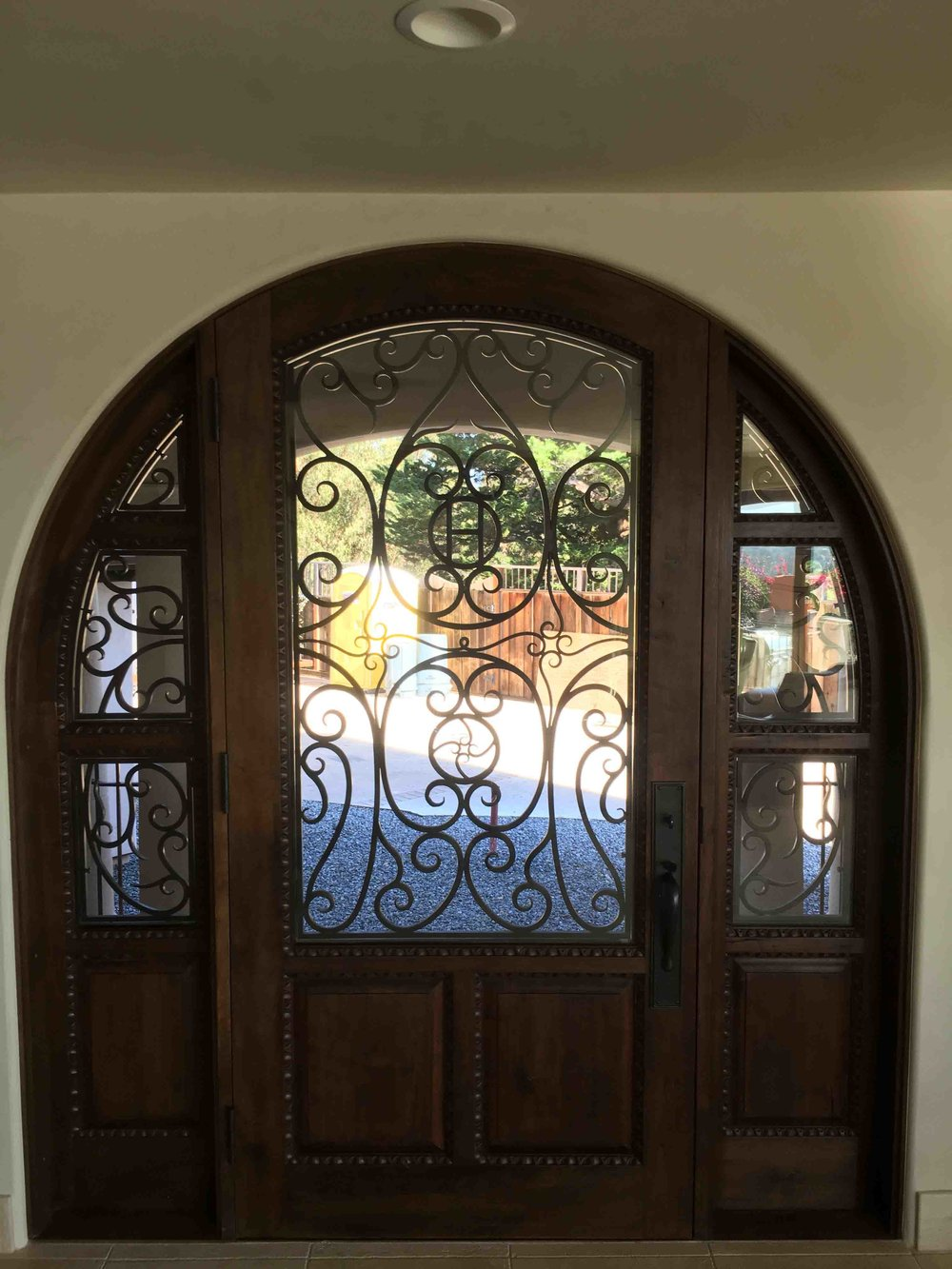 Bronze Door Window Grill