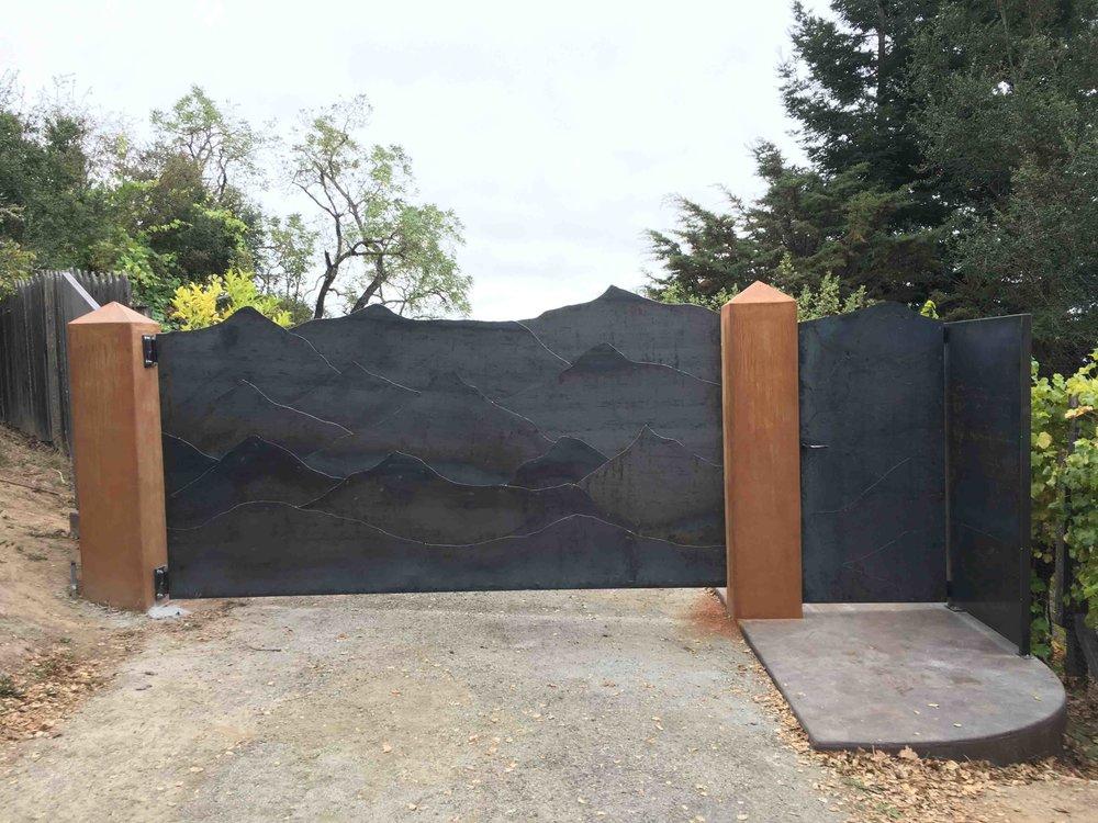 Corten Steel Mountain Range Gate