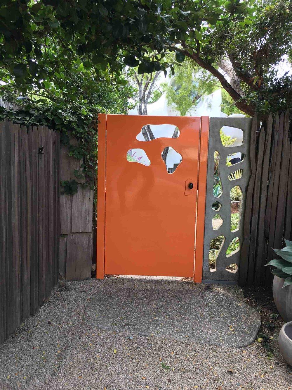 Painted Corten Steel Gate