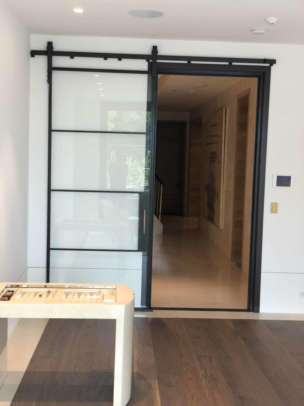 Steel Siding Door with Black Patina