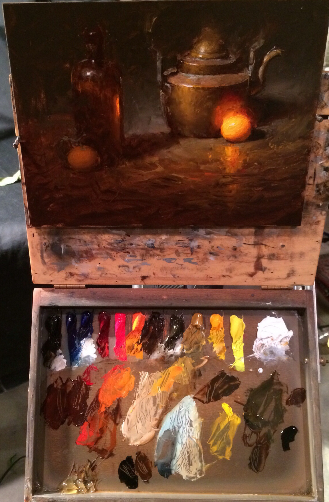 David Cheifetz's knife painting demo from our workshop.