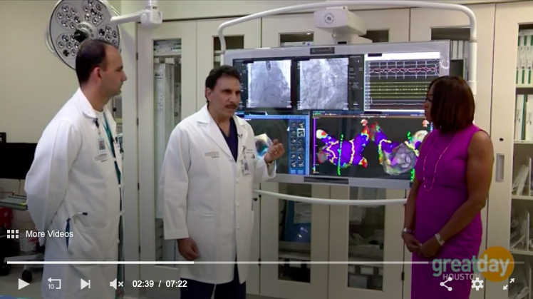 Great Day Houston - Electrophysiologists, Dr. Sohail Jalal and Dr. Amir Azeem, with Memorial Hermann Southwest Hospital share treatment procedures for those suffering with AFIB.Read more.KHOU 11. June 11, 2018.