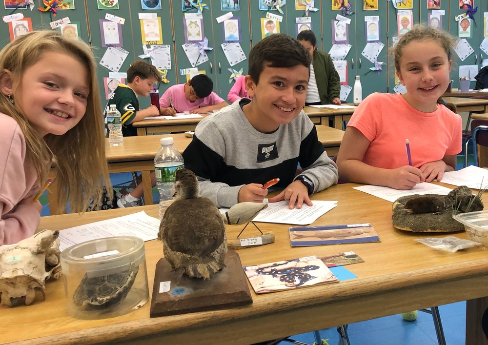 inside the classroom - As much as we love to be outside, Group educators offer classroom lessons about the environment and natural history, which complement a school's curriculum. Students pre-K to 12th grade learn hands-on about Long Island's geological history, taxonomy and amazing animal adaptations. They learn why the tide is abnormally high and low during a full moon and why it's important that rainwater has a place to go. Together with science teachers we help turn East End students into budding environmentalists.Download: Inside the Classroom Lessons 2018-2019