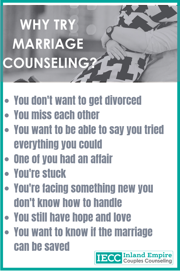 Why Try Marriage Counseling