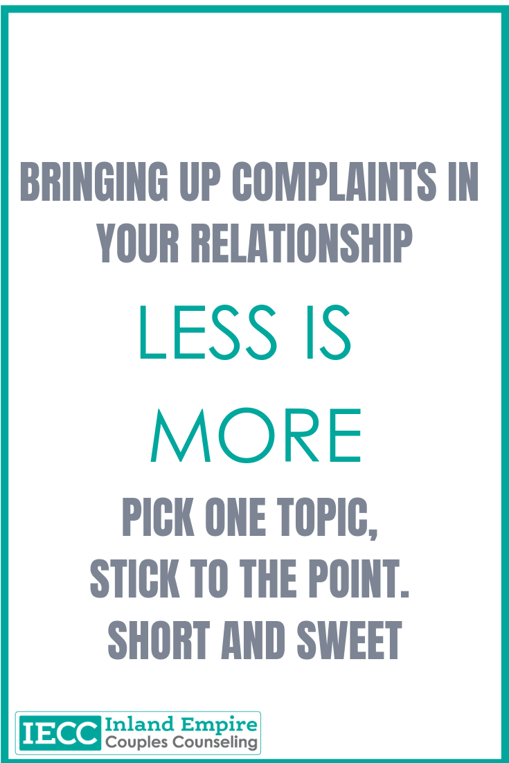 complaints in your relationship
