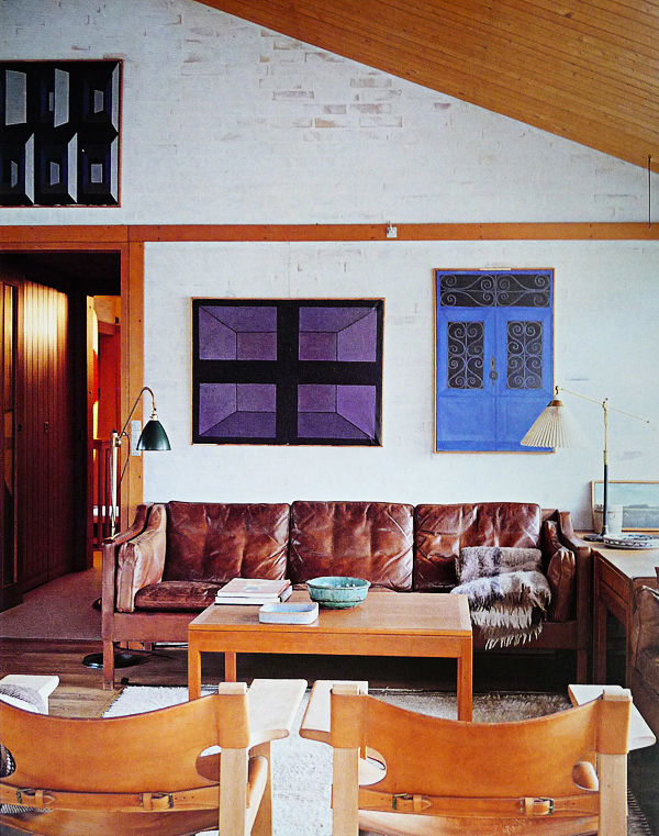 Borge Mogensen's living room with his model 2213 sofa and Spanish chairs.