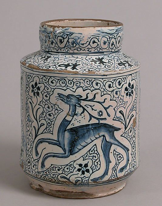 Pharmacy jar from the early 15th century, Florence