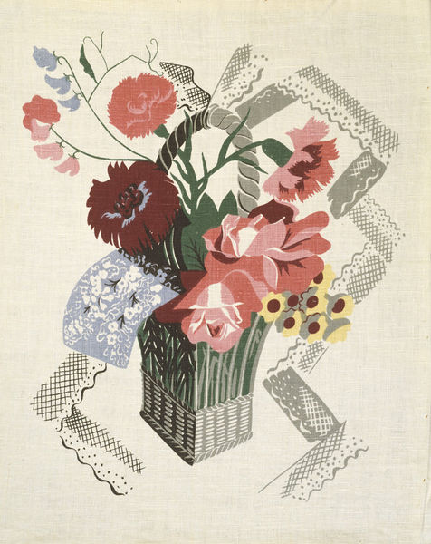 A linen fabric designed by Marion Dorn in 1939.