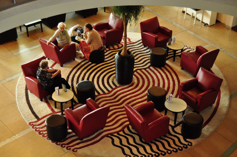 Marion Dorn rug in the Midland Hotel in Morecambe England.