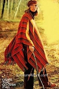 Vintage (1974) blanket cape