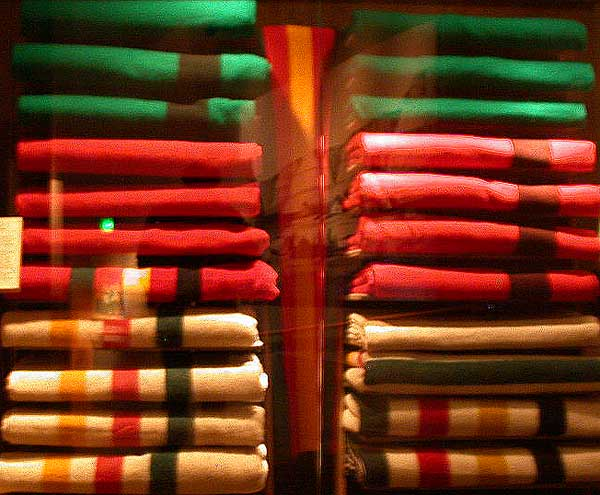 Hudson Bay Blankets in other colors.