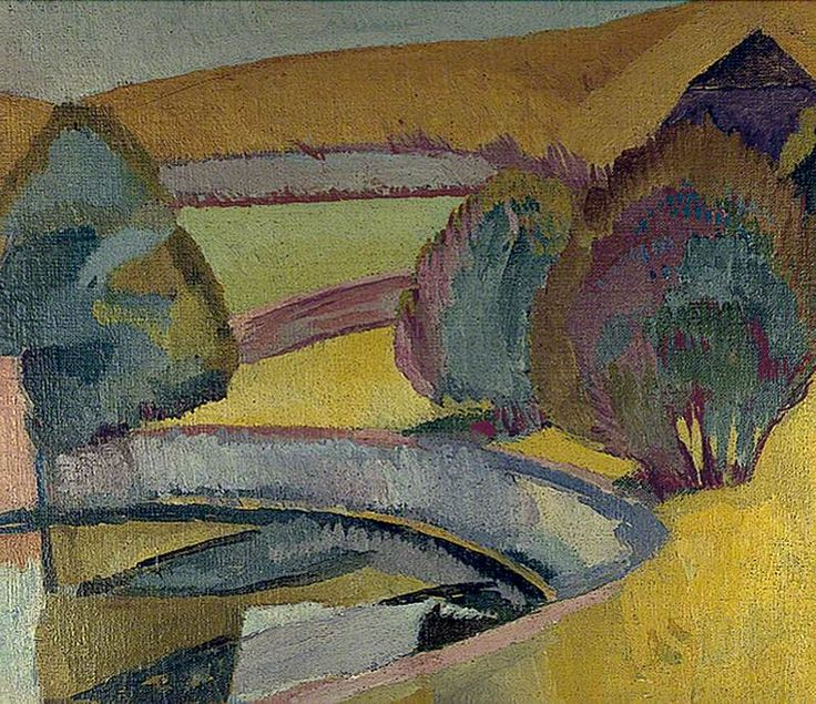 The pond at Charleston by Vanessa Bell