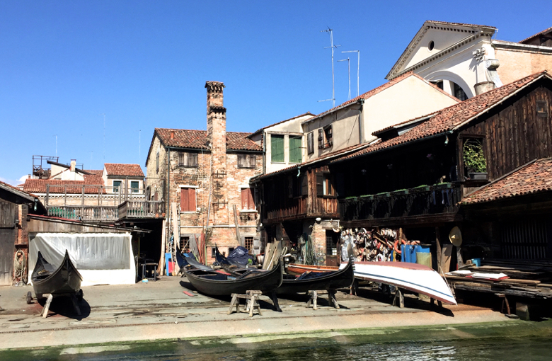 The last gondola yard in Venice