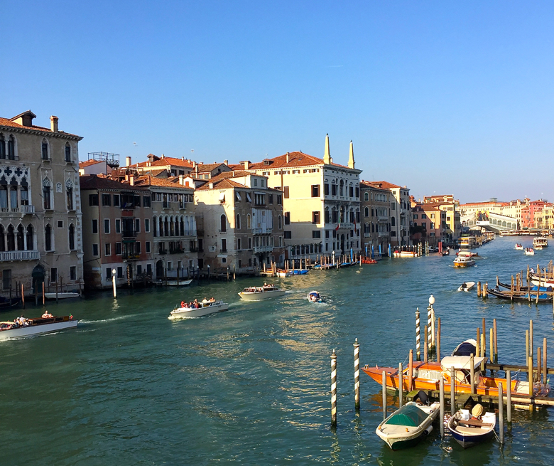 The view from the Rubelli studio in Venice