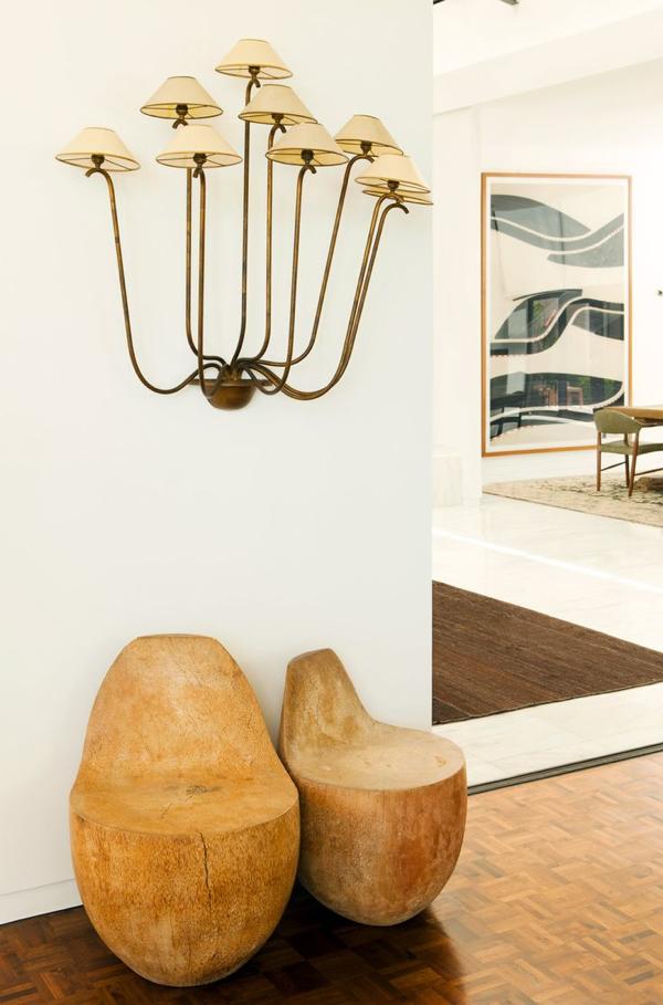 """A Jean Royere """"Ondulation: light fixture in one of Ellen DeGeneres' homes"""