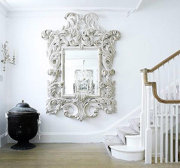 A Baroque style mirror