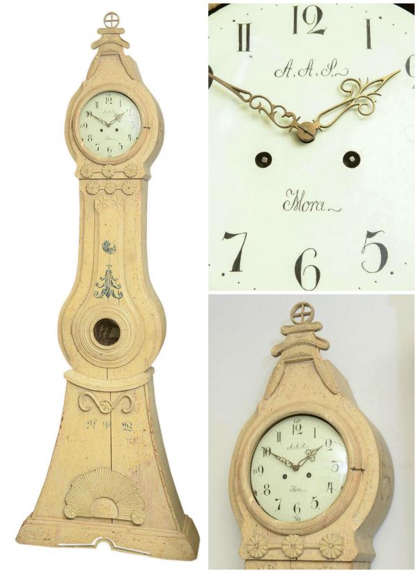 Mora clock bearing the initials AAS