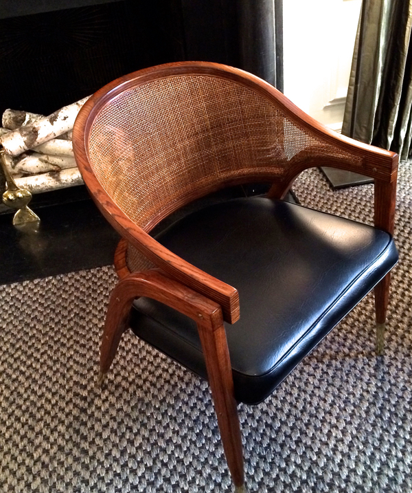 Chair by Edward Wormley seen at the 2014 Holiday House NYC from designer Matthew Patrick Smyth's personal collection