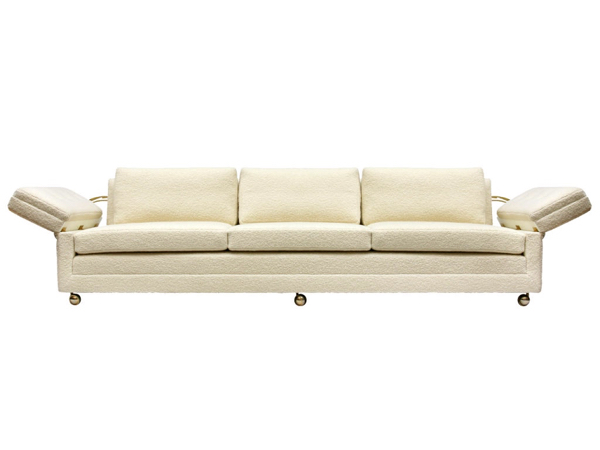 Wormley's drop arm sofa is his modern version of the classic knole sofa from England.