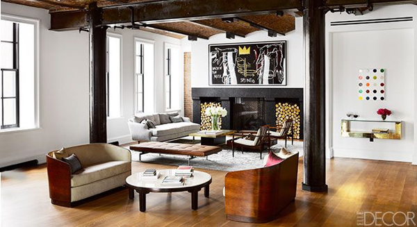 Edward Wormley coffee table in Ivanka Trump's Puck Building Apartment