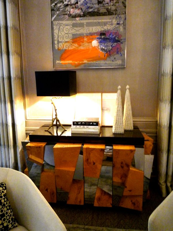 Chest by Paul Evans for Directional Furniture featured in designer Tony Ingrao's room at the 2014 Kips Bay Show House. Photograph by Lynn Byrne