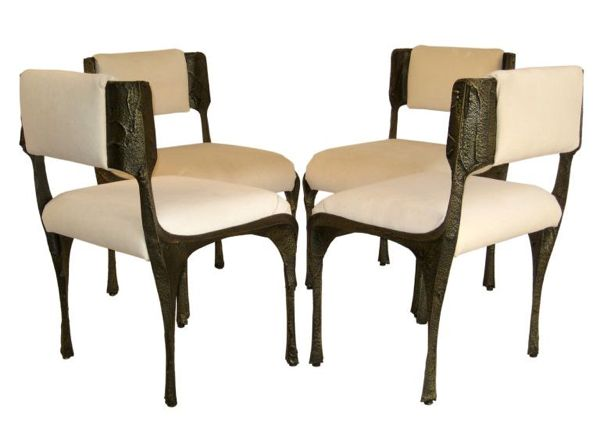 Paul Evans' sculpted-bronze dining chairs