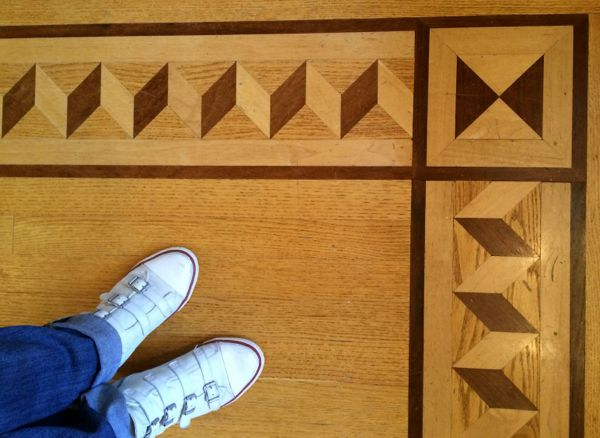 Detail of parquetry in my Pelham house.