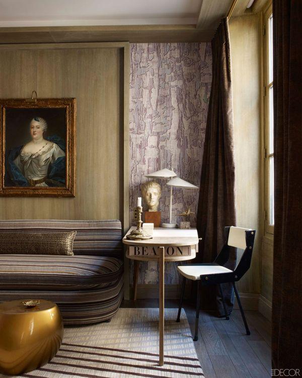 Jacques Adnet desk in the Paris apartment of Jean Louis Deniot