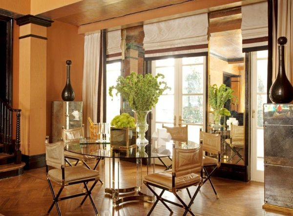 Chairs by Jacques Adnet in Tamara Mellon's home